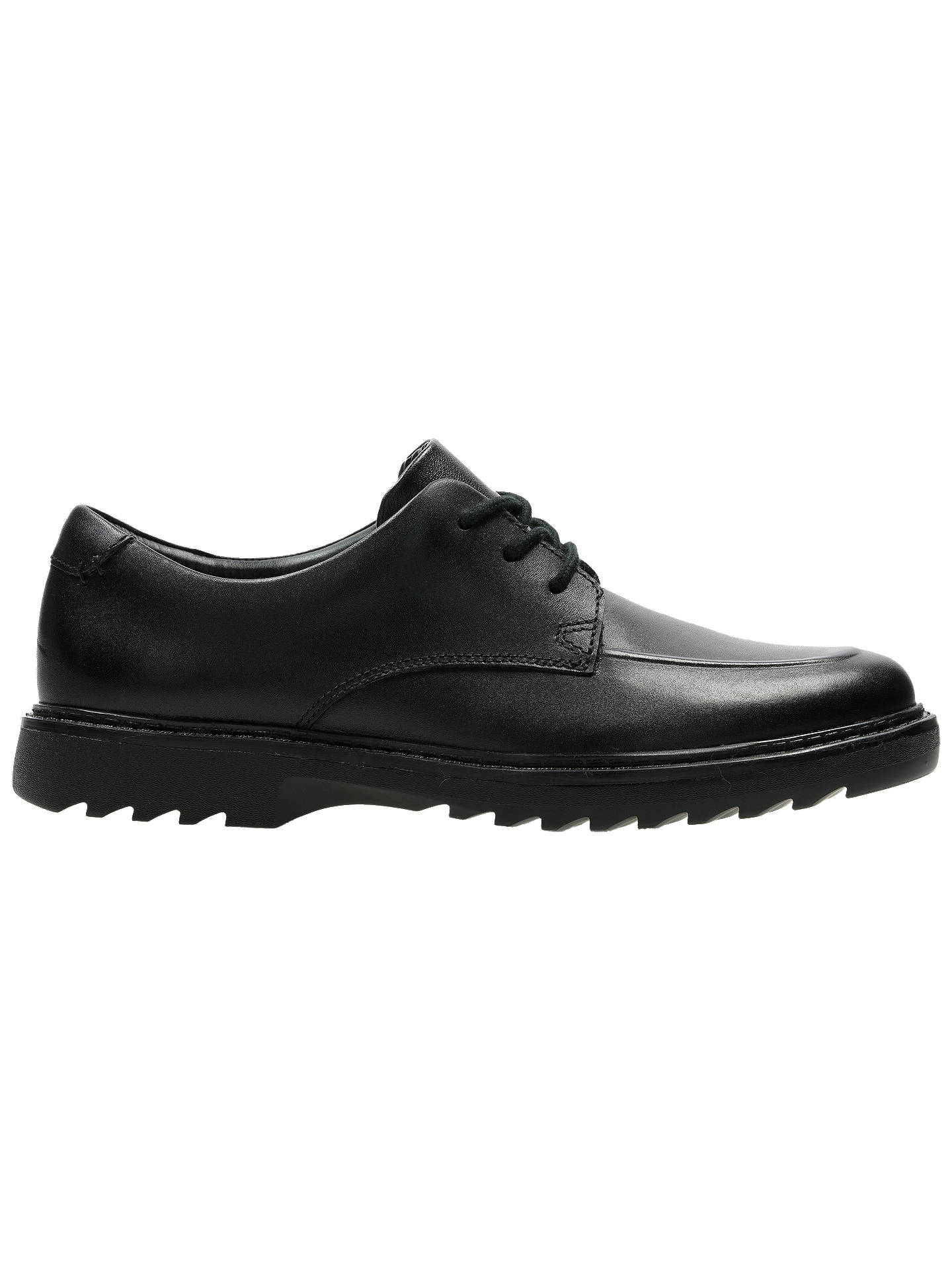 57ee917bf995 Buy Clarks Children's Asher Grove Shoes, Black Leather, 3F Online at  johnlewis. ...