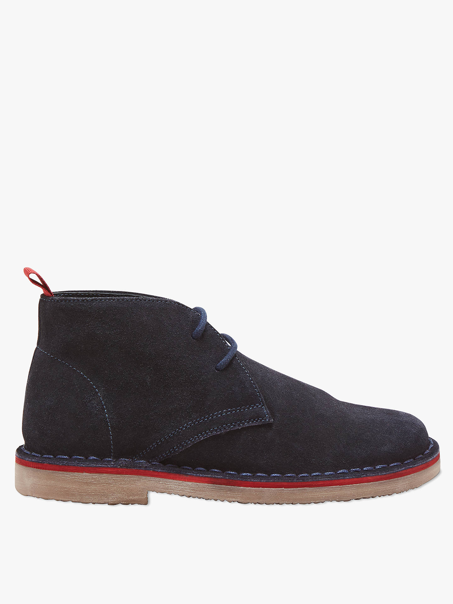 Buy John Lewis & Partners Children's Desert Lace Up Boots, Navy, 8 Jnr Online at johnlewis.com
