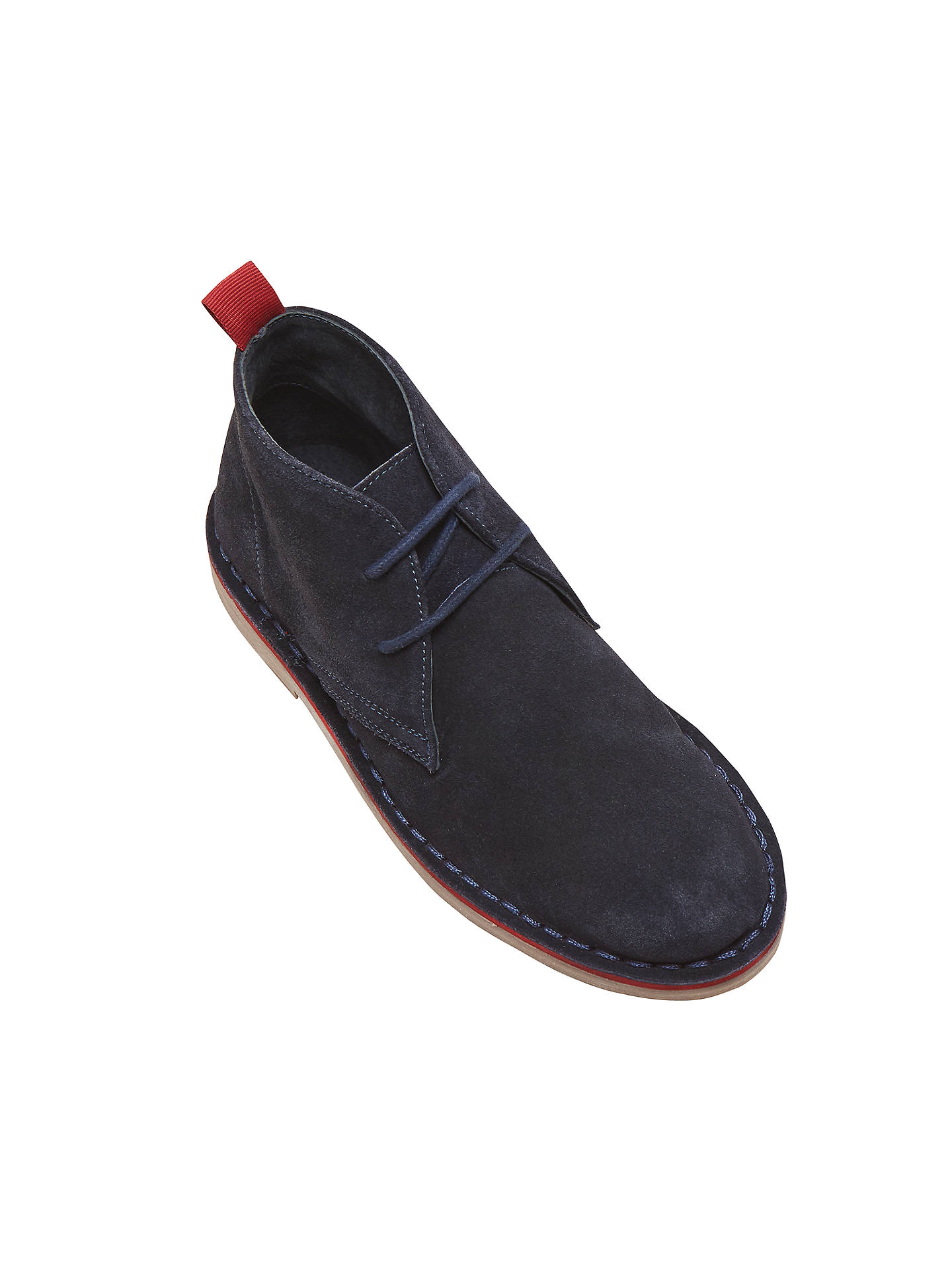 BuyJohn Lewis & Partners Children's Desert Lace Up Boots, Navy, 8 Jnr Online at johnlewis.com