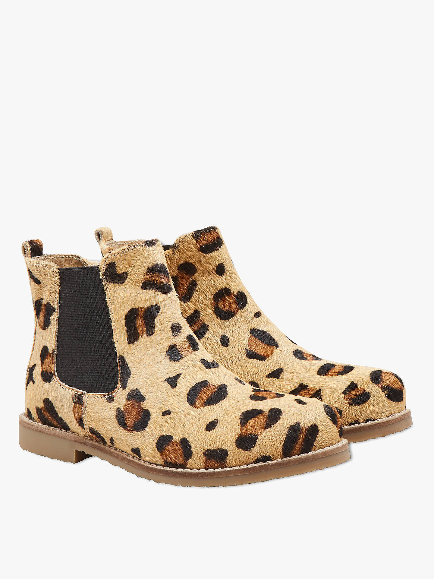 e746ac01ba76 Buy John Lewis & Partners Children's Hannah Leopard Print Chelsea Boots,  Multi, 10 Jnr ...