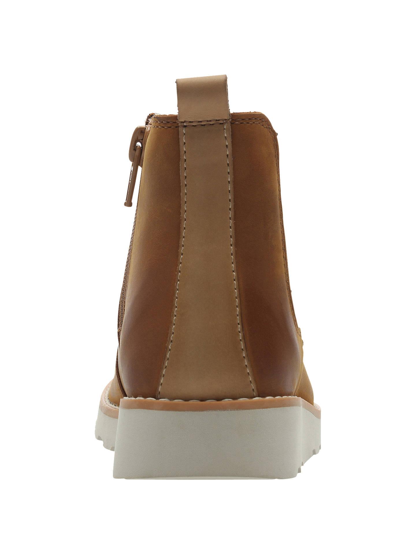 038d1215c2f2b Buy Clarks Junior Crown Halo Chelsea Boots, Tan, 7F Jnr Online at johnlewis.