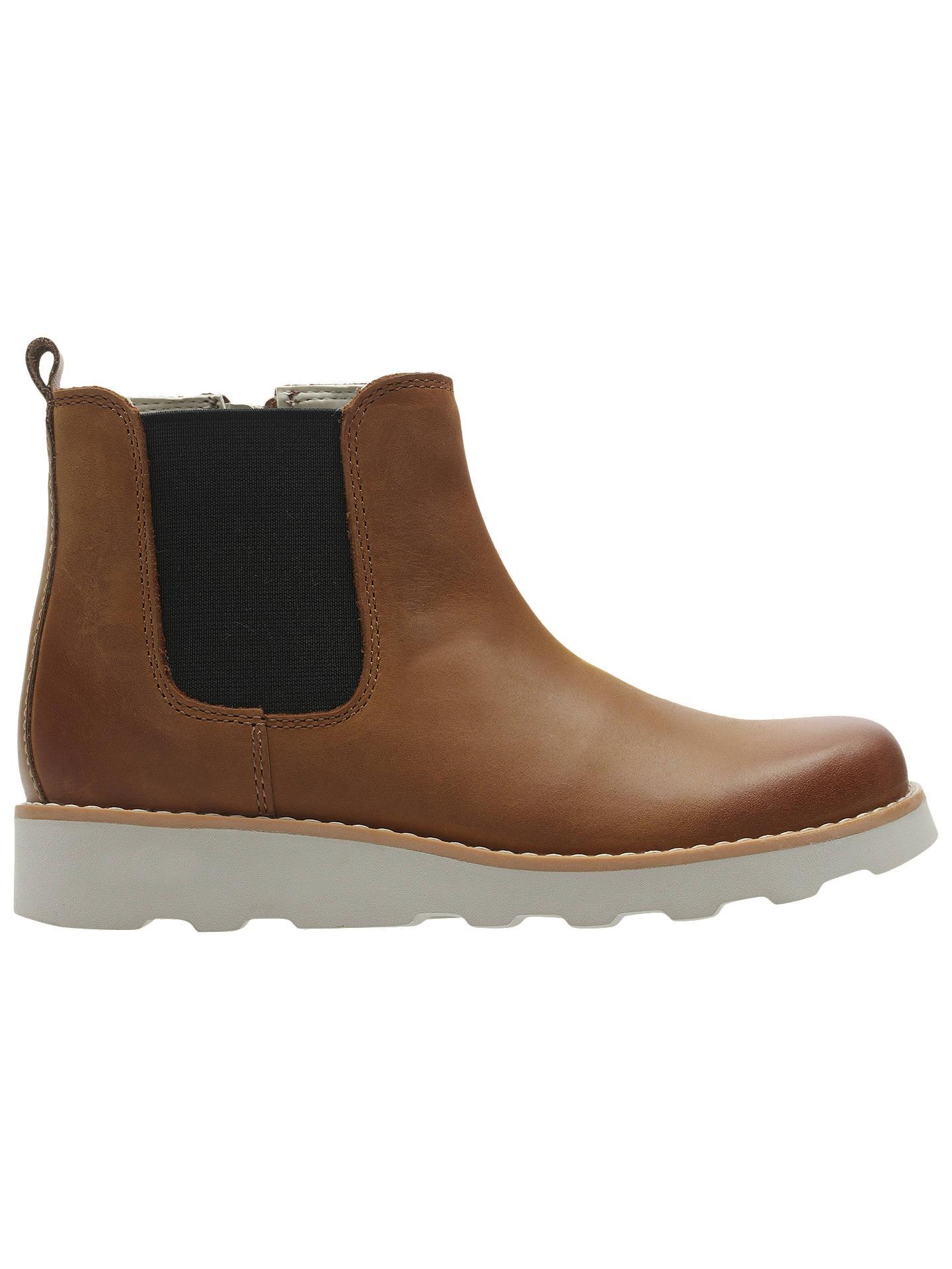 88b591150 Buy Clarks Children's Crown Halo Chelsea Boots, Tan, 10F Jnr Online at  johnlewis.