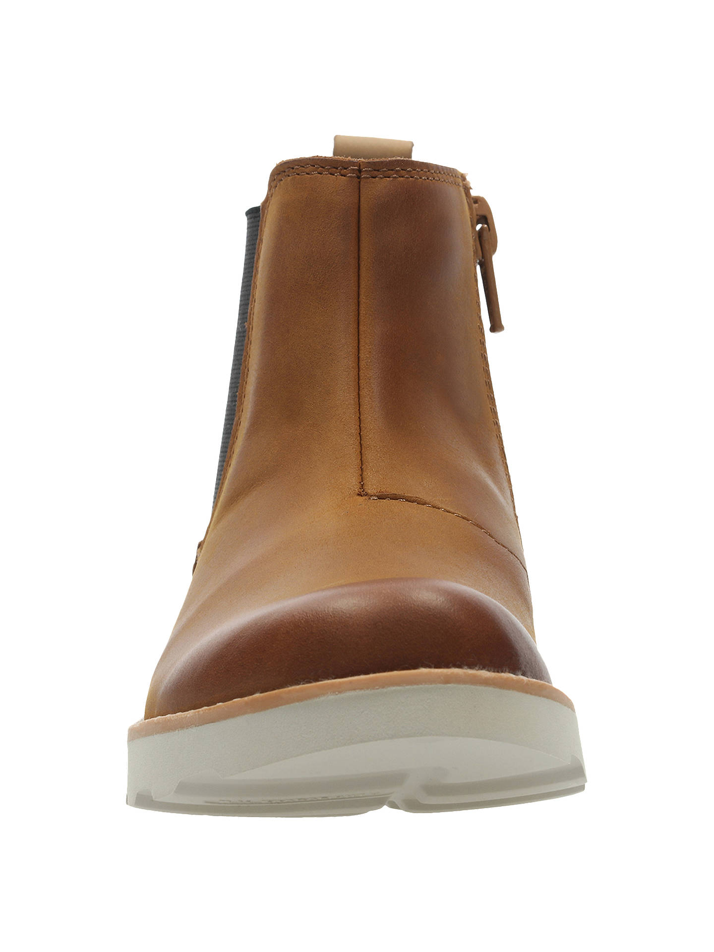 4a61786c3c Buy Clarks Children's Crown Halo Chelsea Boots, Tan, 10F Jnr Online at  johnlewis.