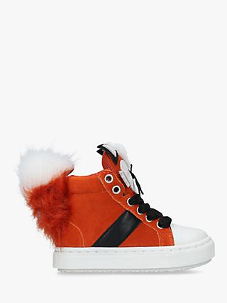 Kurt Geiger London Children's Fantastic Mr Fox Trainers, Orange
