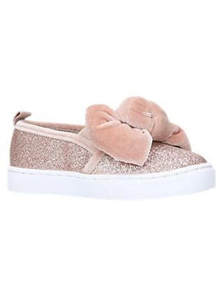 Kurt Geiger London Children's Twister Glitter Shoes, Pink