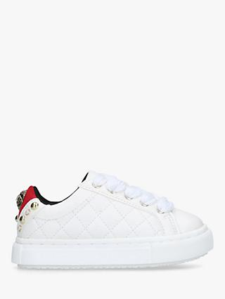 Kurt Geiger London Children's Ludo Embellished Trainers, White