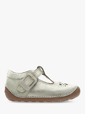 BuyClarks Children's Little Weave Pre-Walker Shoes, Gold, 3F Jnr Online at johnlewis.com