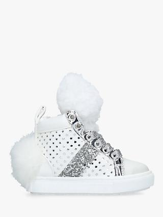 Kurt Geiger London Children's Snowball Hi-Top Trainers, White