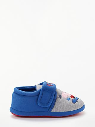 Peppa Pig Children's Skater George Slippers, Blue