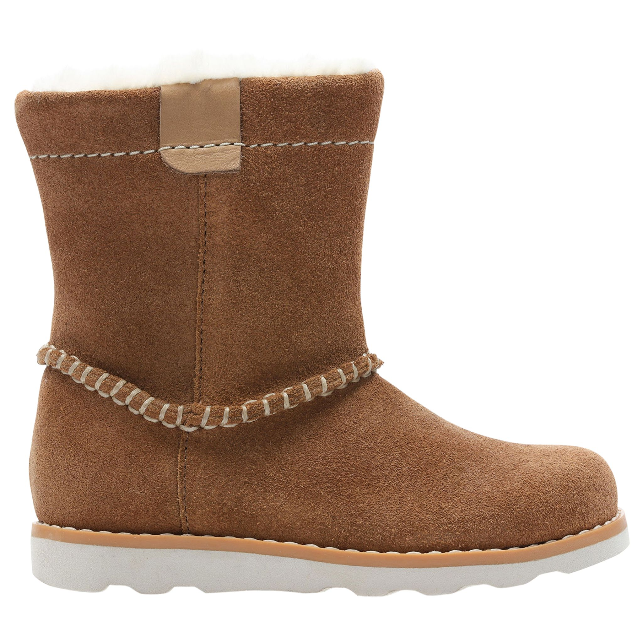 6a4281d6 Clarks Children's Pre School Crown Piper Leather Boots, Tan at John Lewis &  Partners