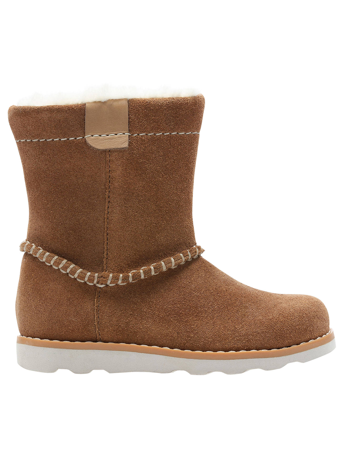a6059925 Buy Clarks Children's Pre School Crown Piper Leather Boots, Tan, 7F Jnr  Online at