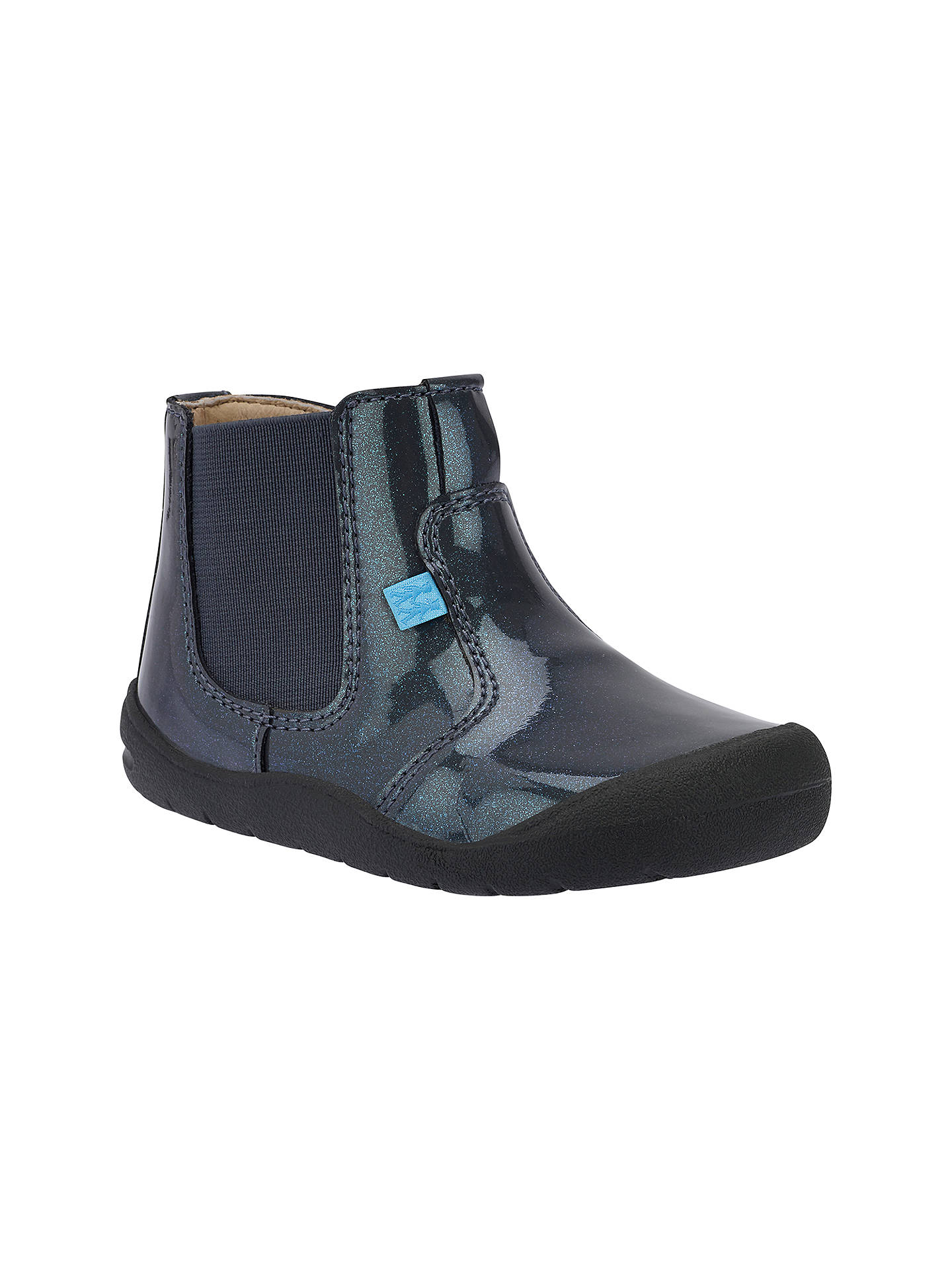 Buy Start-Rite First Leather Chelsea Boots, Gunmetal Patent, 4.5F Jnr Online at johnlewis.com