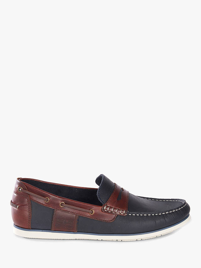 free shipping large discount discount shop Barbour Keel Saddle Loafers, Navy, Navy at John Lewis & Partners