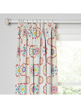little home at John Lewis Sahara Pencil Pleat Pair Blackout Lined Children's Curtains