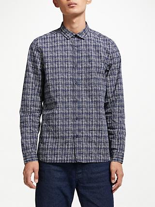Kin Textured Print Shirt, Navy
