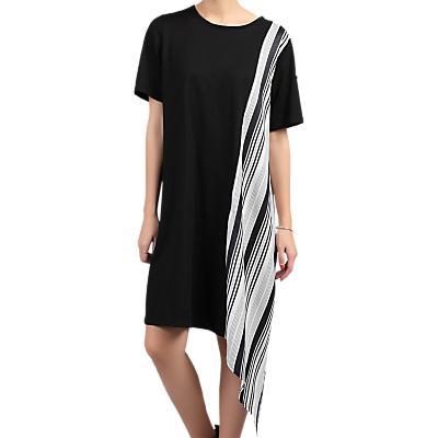 Jolie Moi Asymmetric Contrast Tunic Dress