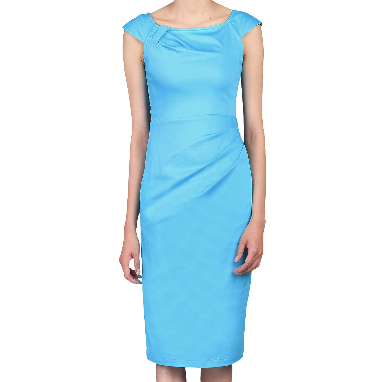 Jolie Moi Retro Wiggle Dress   Blue at John Lewis