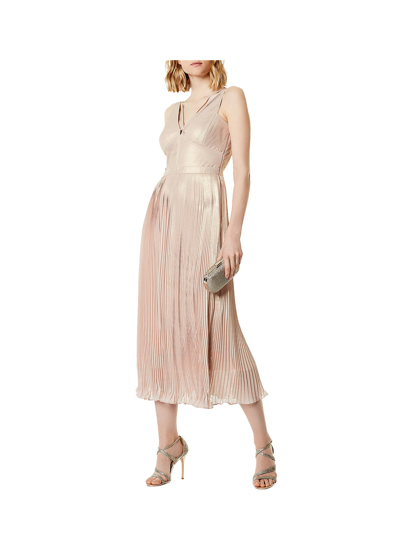 cdca94bba9 View All Women s Dresses. Previous Image Next Image. BuyKaren Millen Metallic  Pleat Midi Dress