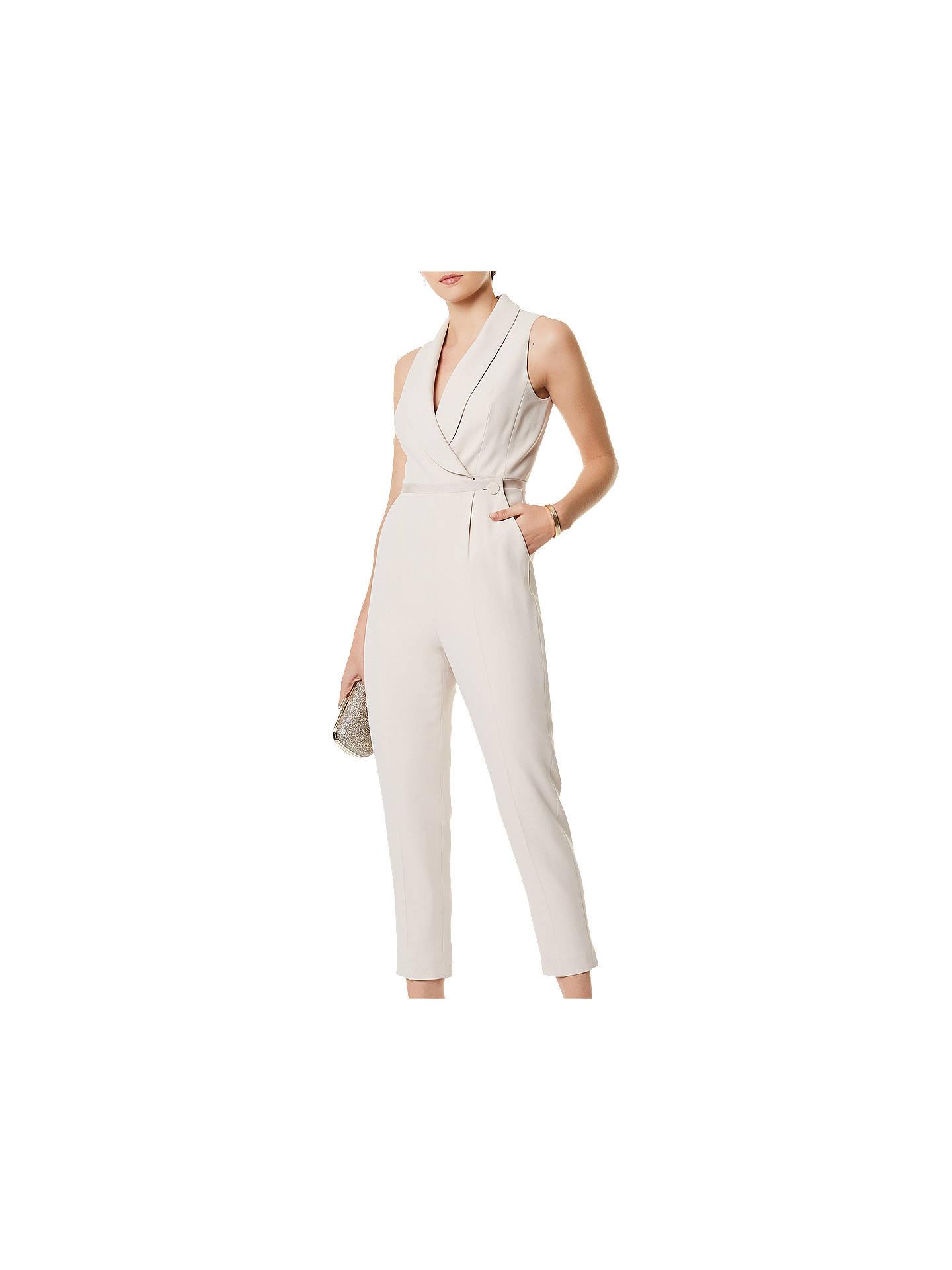 cf539a32889 Buy Karen Millen Tailored Wrap Over Neck Cropped Jumpsuit