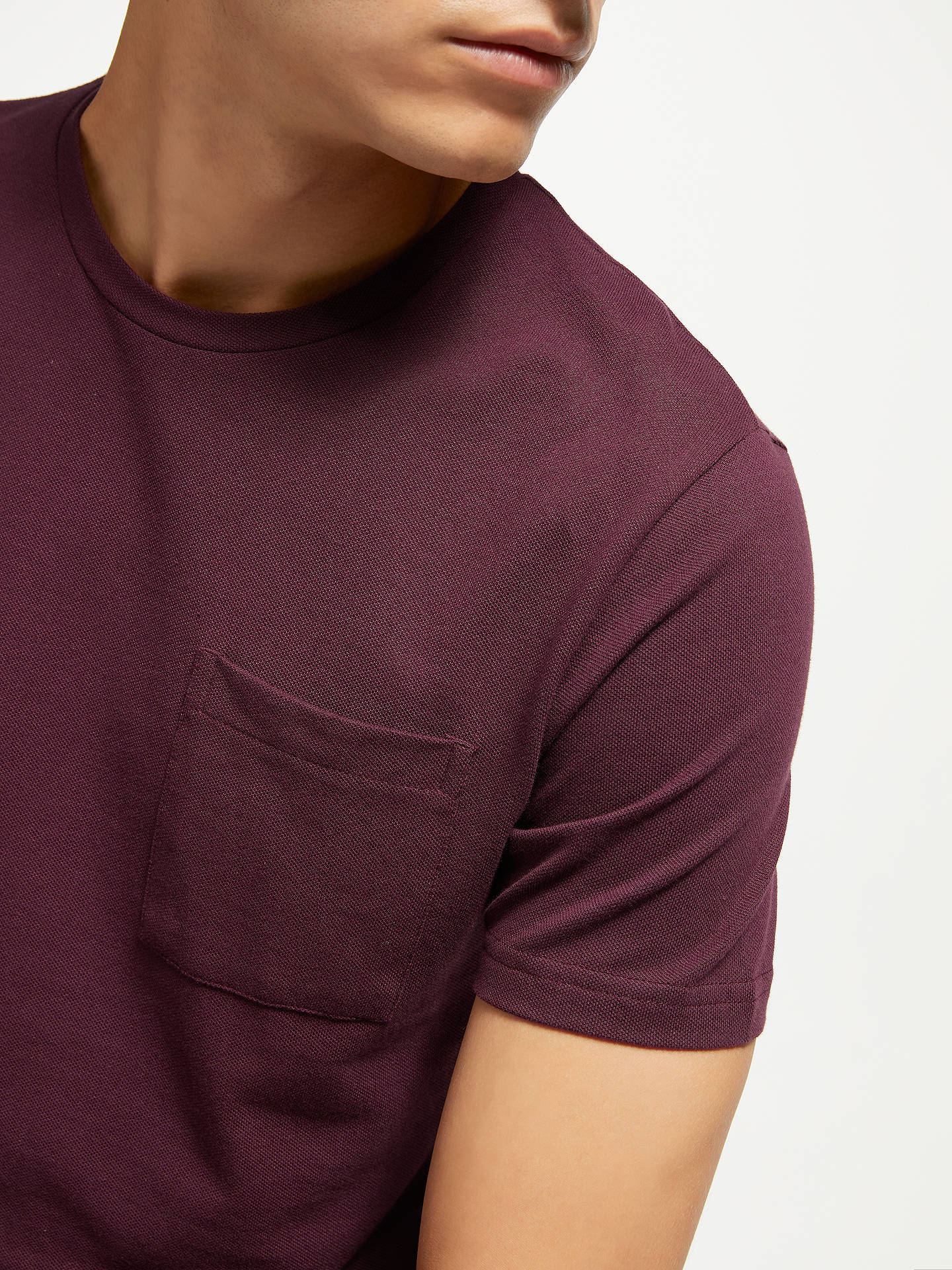 BuyKin Plain Pique T-Shirt, Purple, S Online at johnlewis.com