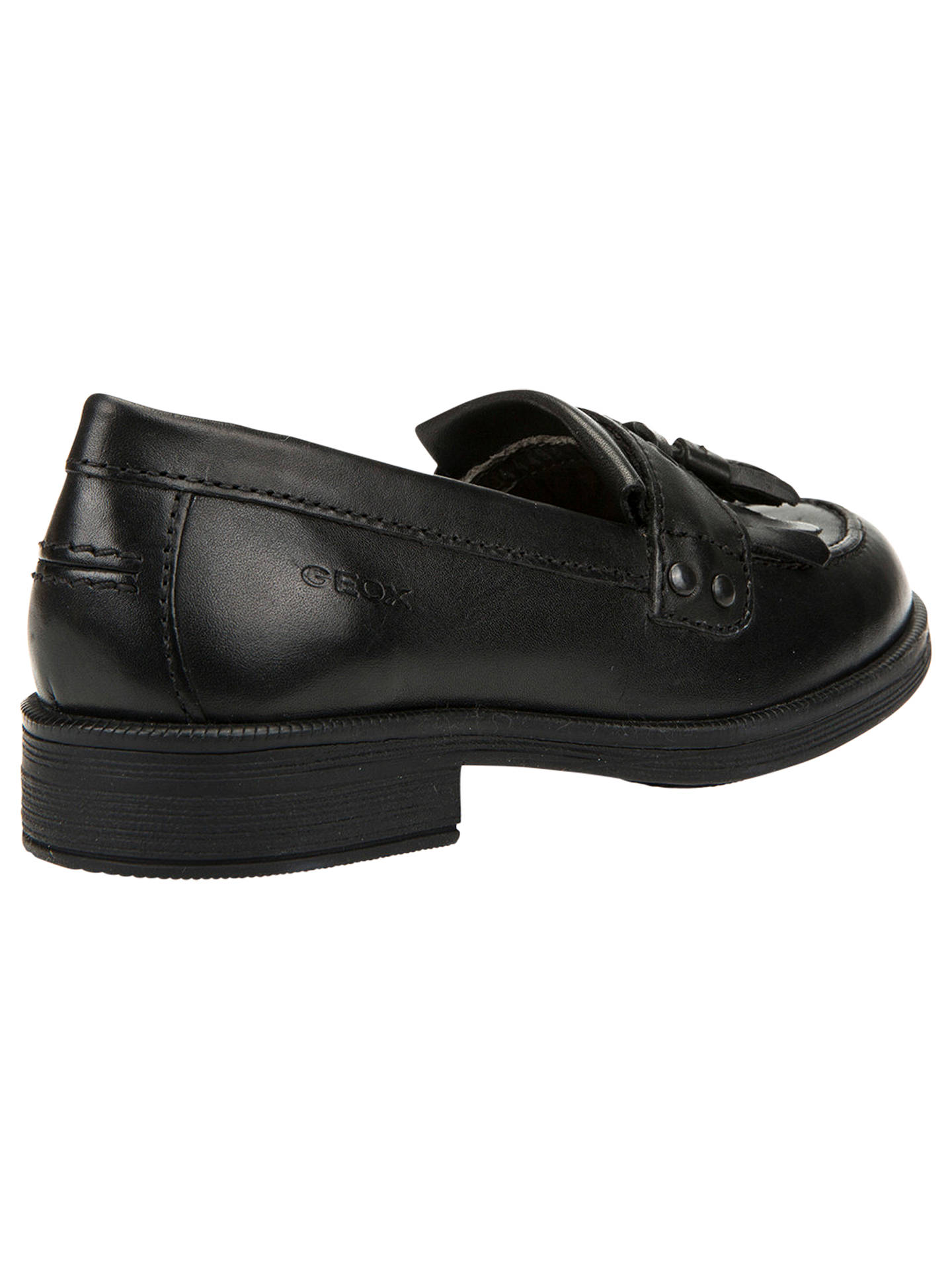 3abd2fc7158 ... Buy Geox Children's Agata Tassel Leather Loafers, Black, 30 Online at  johnlewis. ...