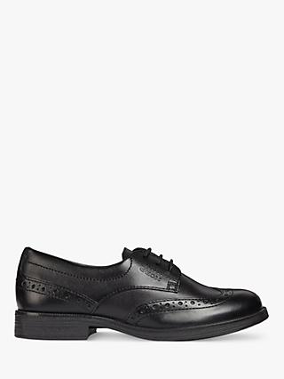 Geox Children's Agata Lace-Up Brogue, Black