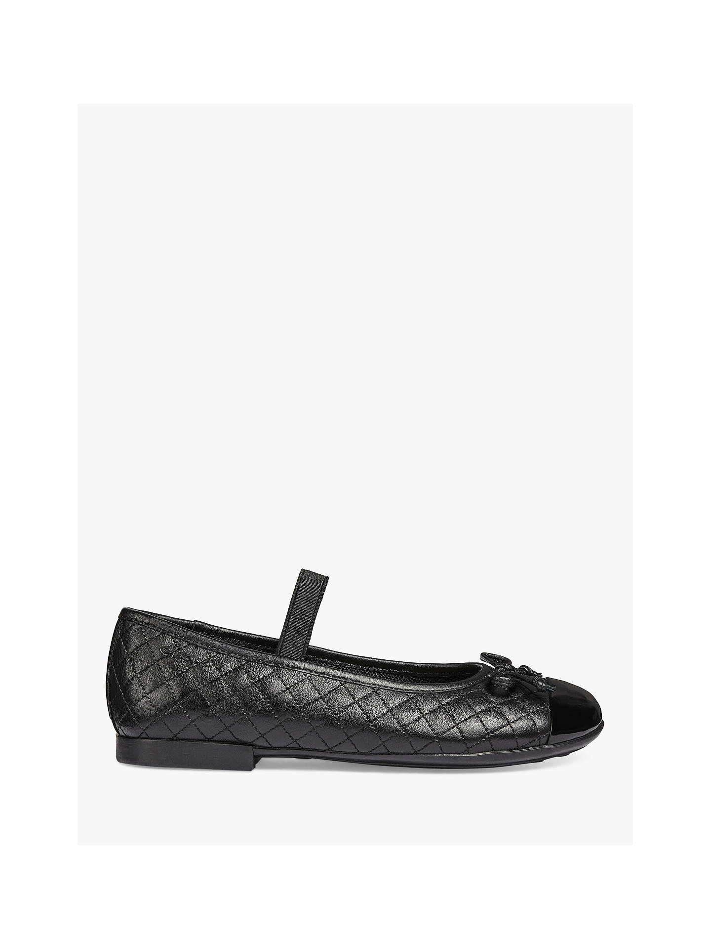 Geox Children's J Plie Ballet School Shoes, Black