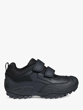Geox Children's Savage Riptape Shoes, Black