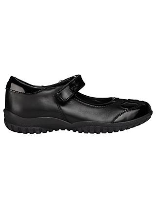 Geox Children's J Shadow MJ School Shoes, Black