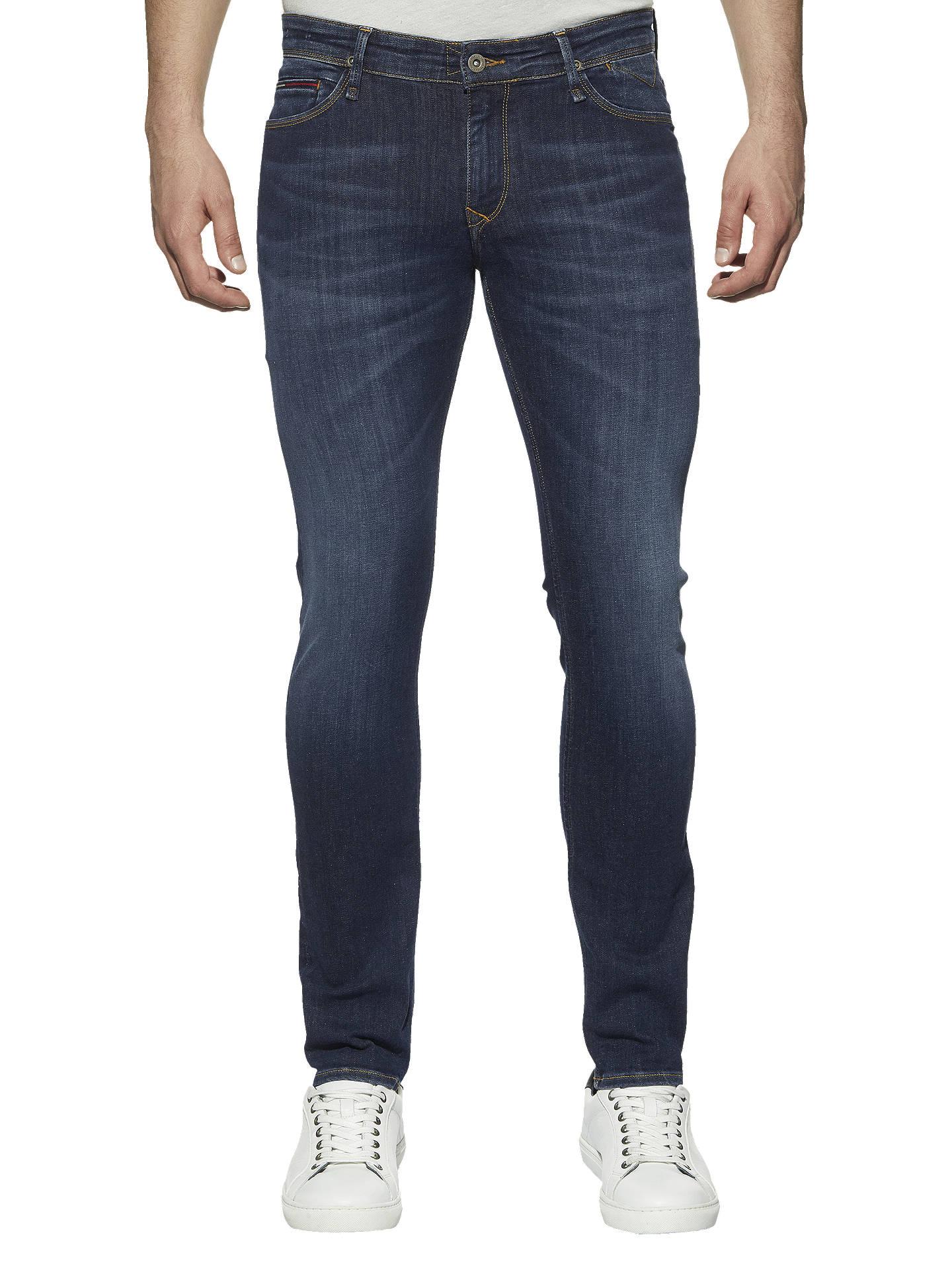 f3cde48c Buy Tommy Jeans Skinny Simon Jeans, Dark Blue, 34R Online at johnlewis.com  ...