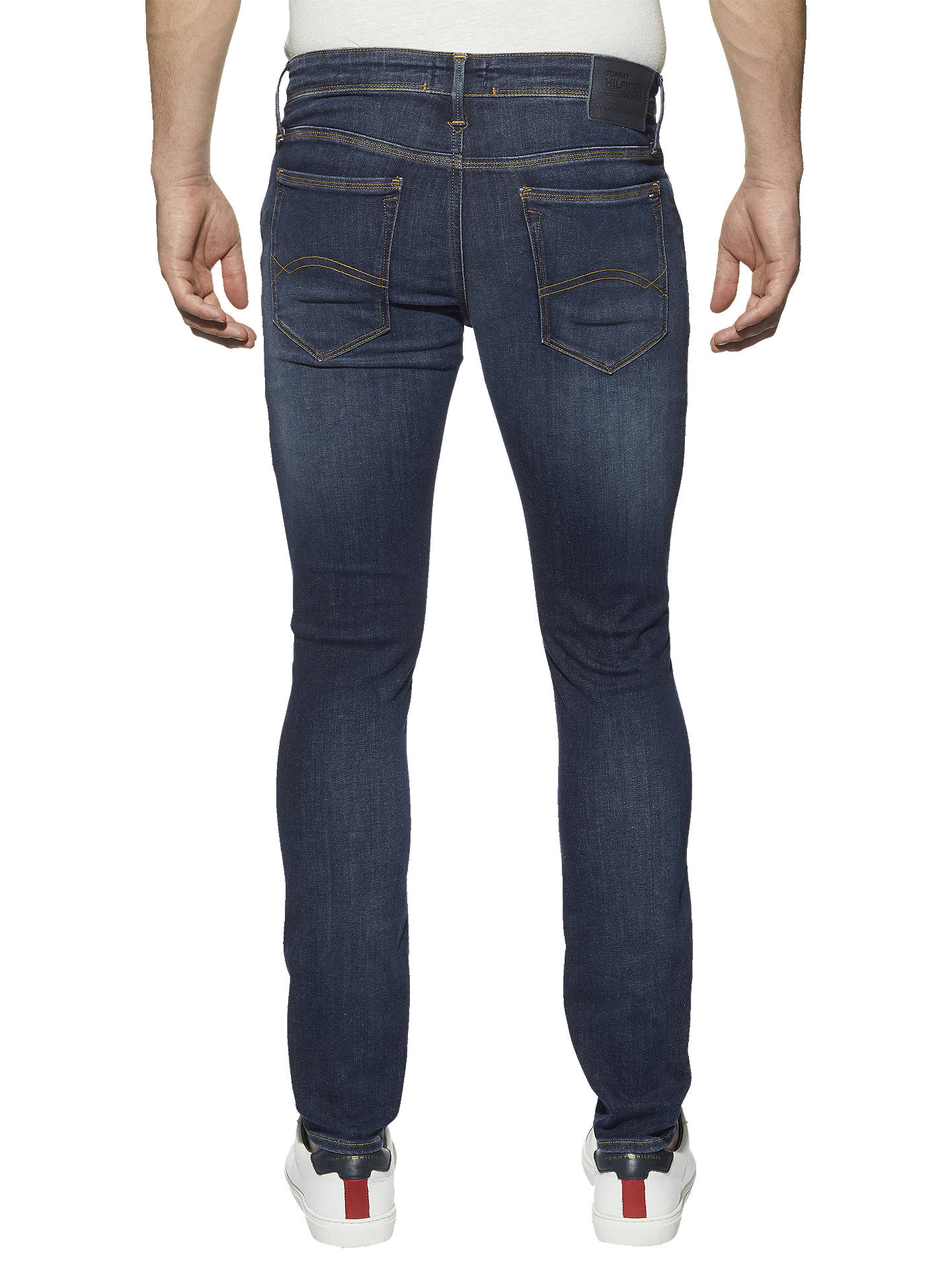 21ffbbc2 ... Buy Tommy Jeans Skinny Simon Jeans, Dark Blue, 34R Online at  johnlewis.com ...