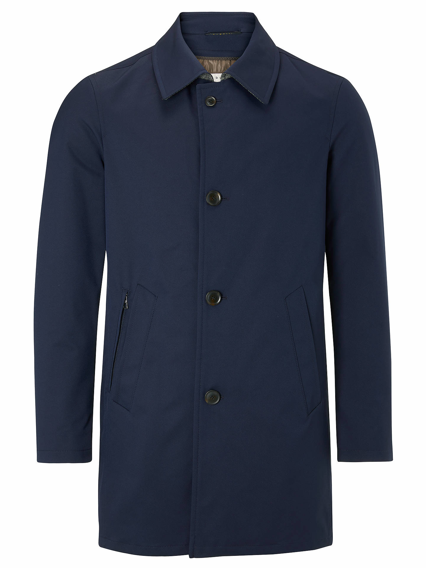 BuyBugatti Long Line Button Up Mac, Navy, 44R Online at johnlewis.com