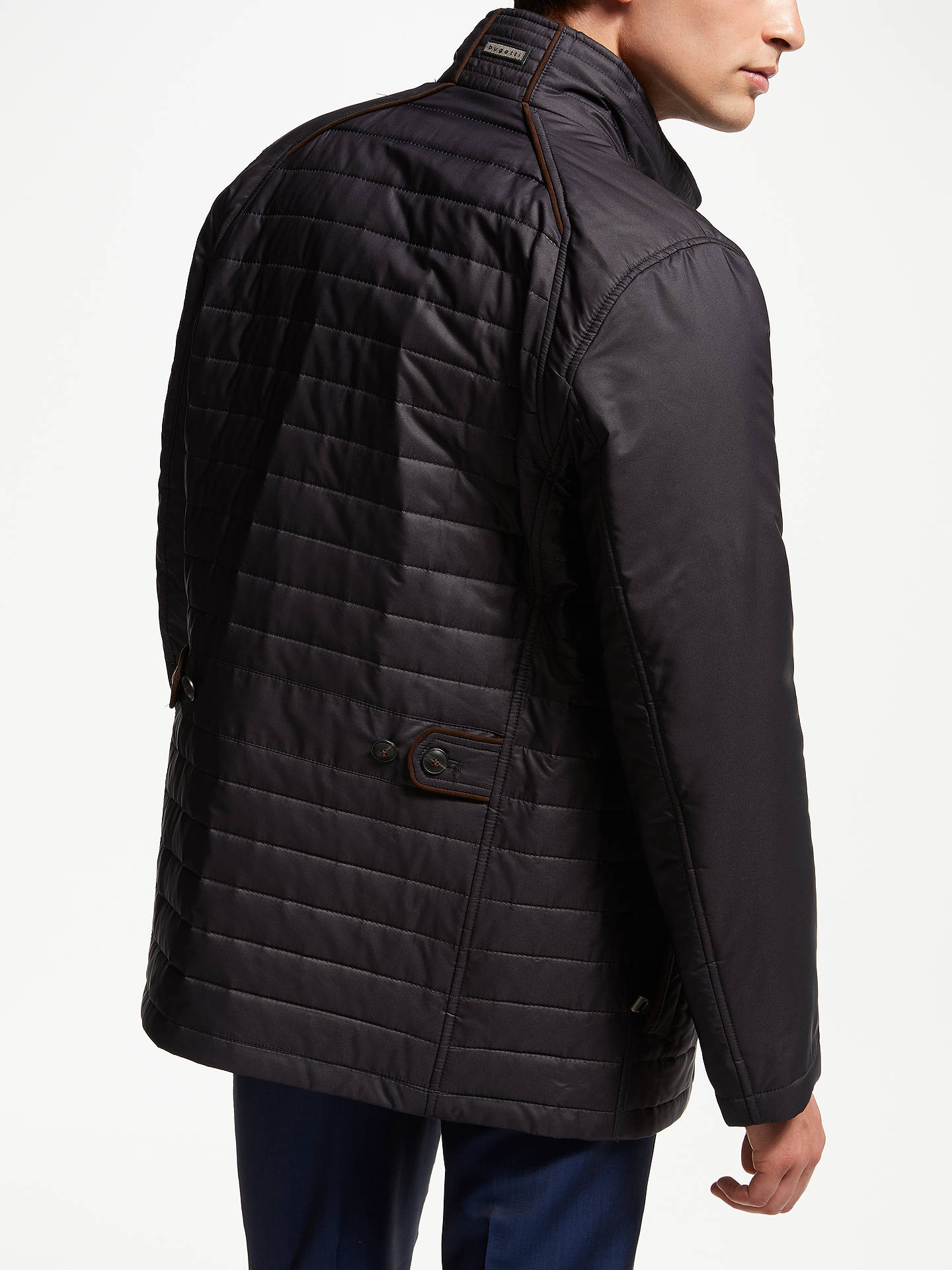 BuyBugatti Button Up Quilted Field Jacket, Blue, 44R Online at johnlewis.com