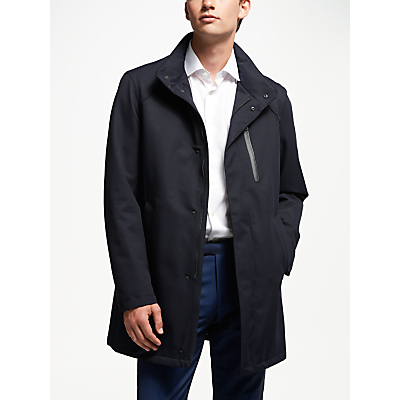 Image of Bugatti Twill Overcoat, Blue