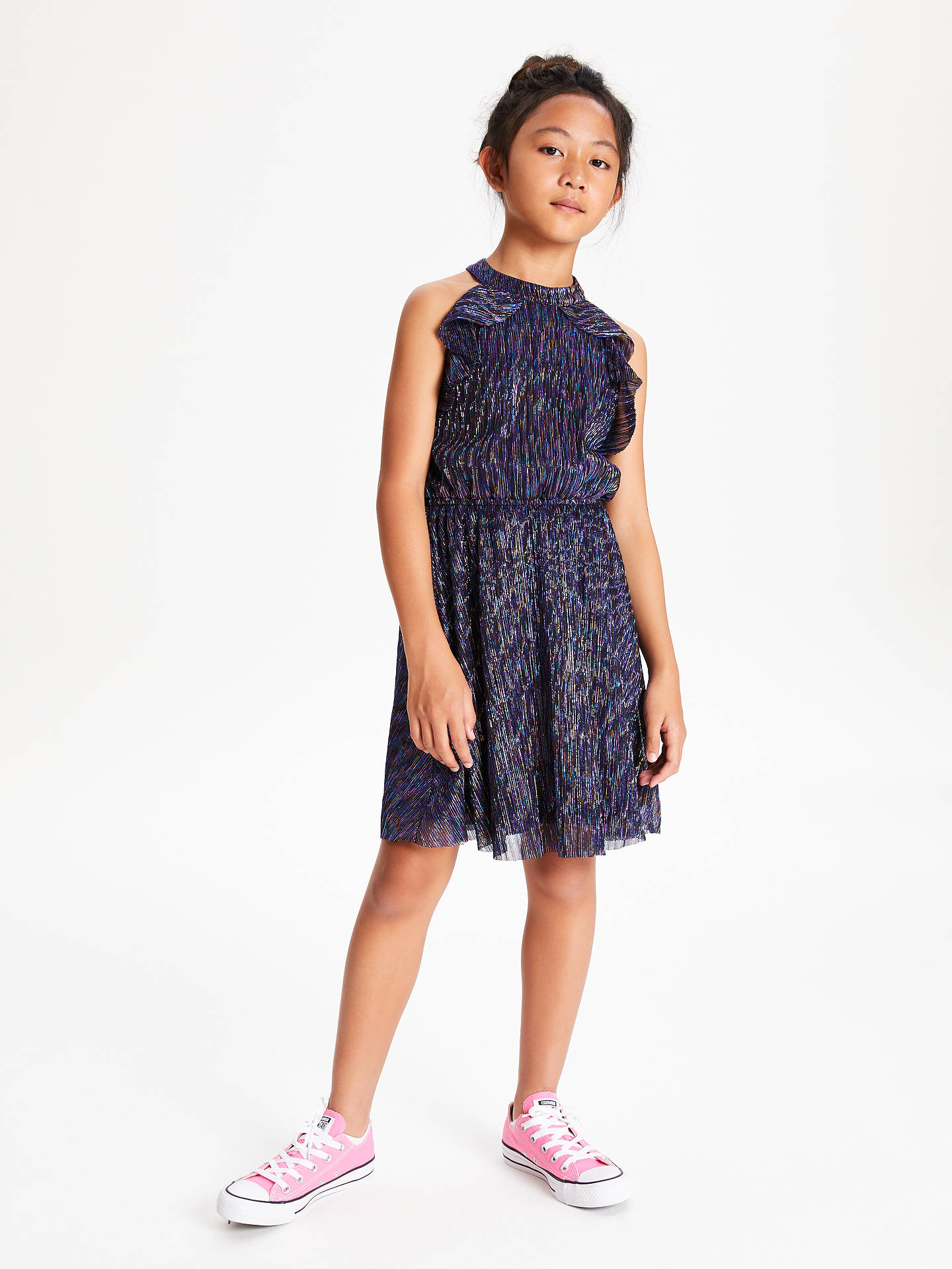 BuyJohn Lewis & Partners Girls' Sparkle Dress, Multi, 8 years Online at johnlewis.com