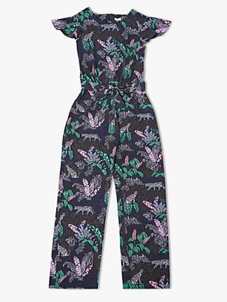 5123086204b John Lewis   Partners Girls  Jungle Print Jumpsuit