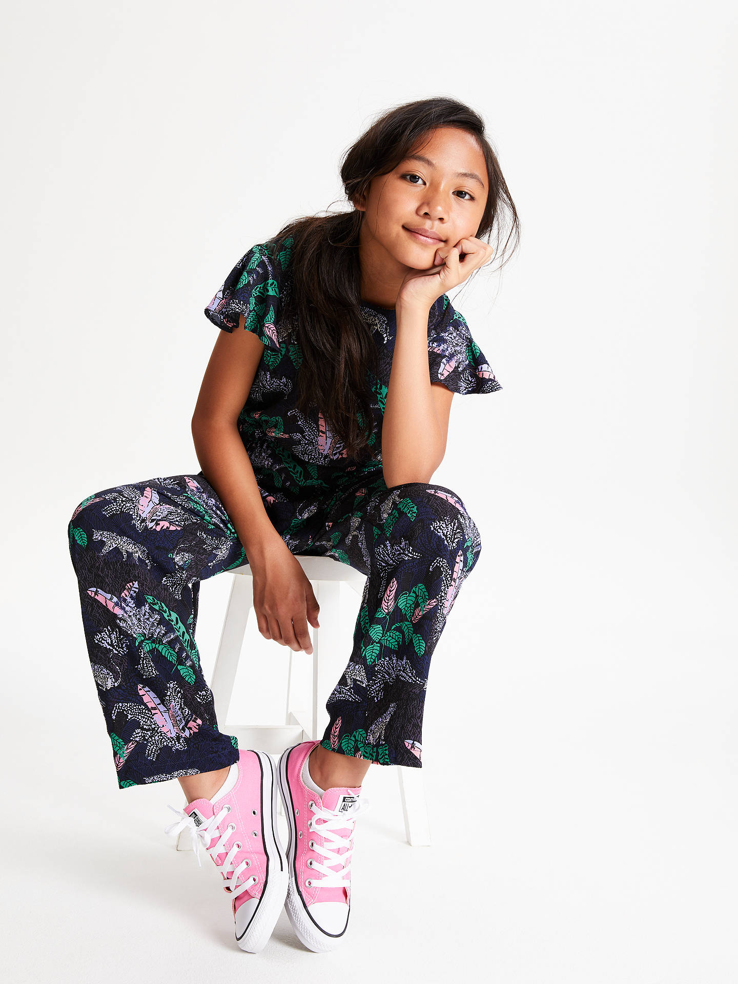 BuyJohn Lewis & Partners Girls' Jungle Print Jumpsuit, Multi, 8 years Online at johnlewis.com