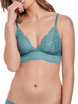 Buy b.tempt'd Ciao Bella Lace Bralette, Blue Smoke, S Online at johnlewis.com
