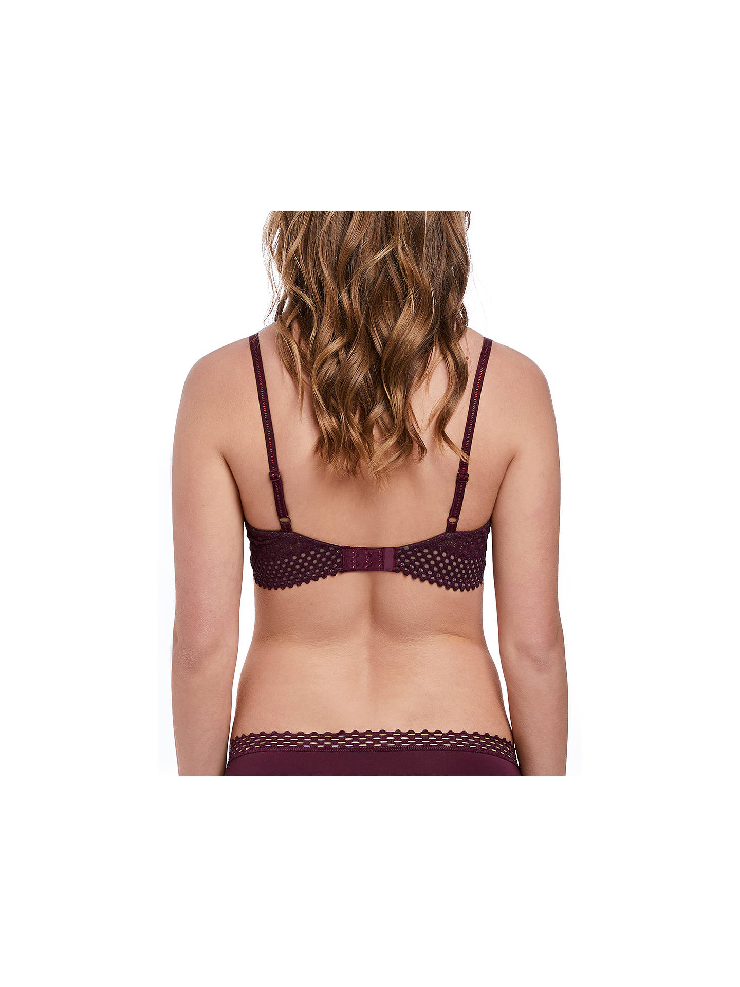 Buyb.tempt'd Tied In Dots Contour Bra, Grape Wine, 32B Online at johnlewis.com