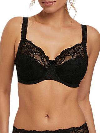 Fantasie Jacqueline Lace Underwired Side Support Bra, Black