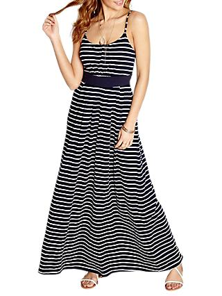 Yumi Nautical Stripe Maxi Dress, Navy