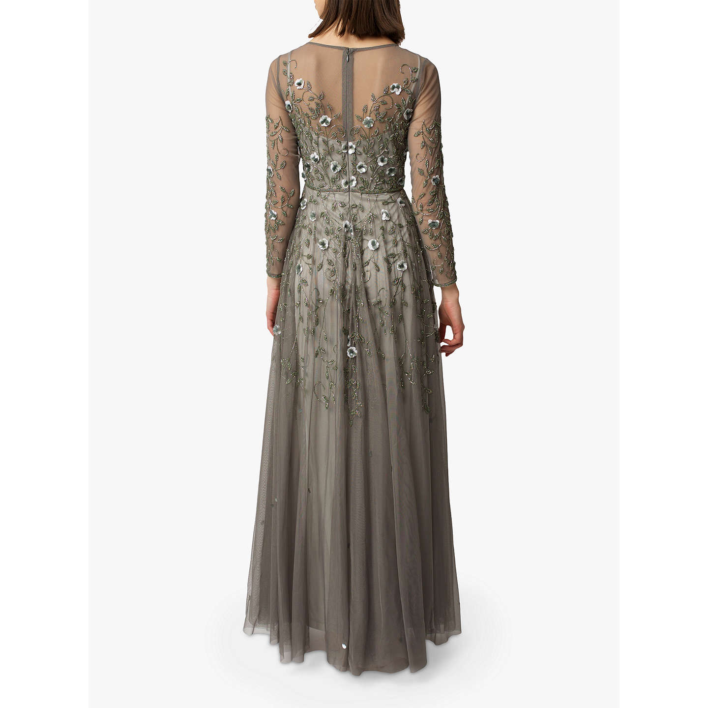 BuyRaishma Floral Embroidered Gown, Duck Egg, 8 Online at johnlewis.com