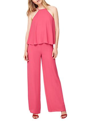 Damsel in a Dress Jessa Tiered Jumpsuit, Hot Pink