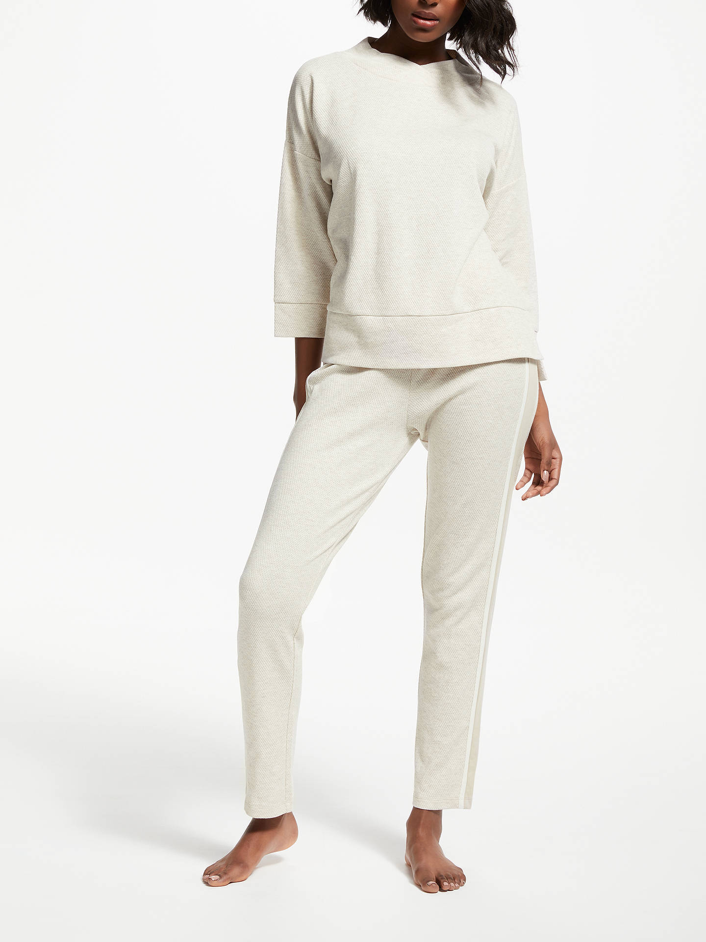 BuyJohn Lewis & Partners Contrast Side Jogger Lounge Bottoms, Neutral, 16 Online at johnlewis.com