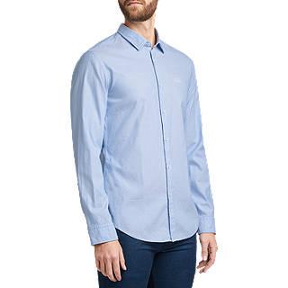 BOSS Dobby Cotton Slim Fit Shirt, Medium Blue