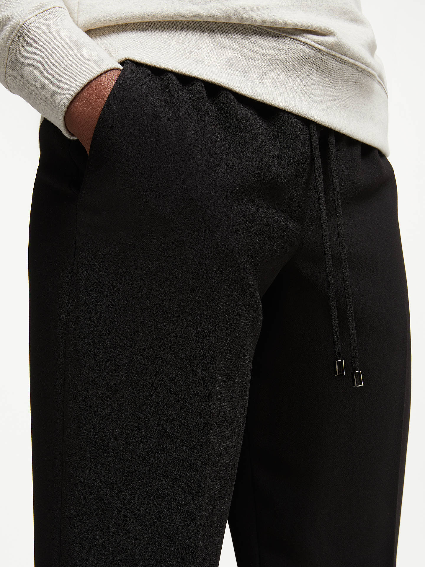 BuyJohn Lewis & Partners Woven Jogger Trousers, Black, 8 Online at johnlewis.com