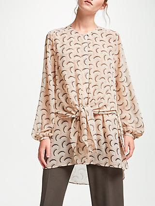 modern rarity archive tie front tunic top pink