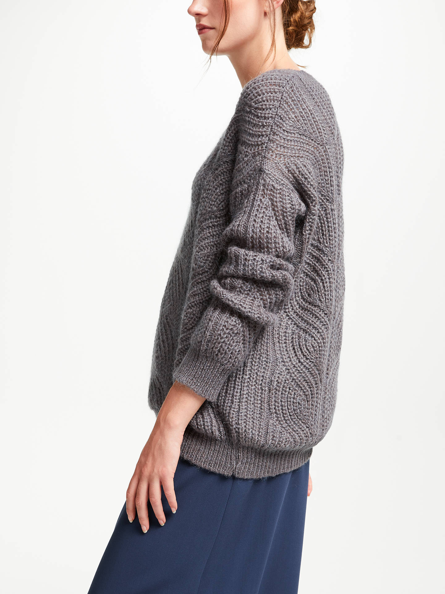 BuyModern Rarity Cable Knit Jumper, Heather, XS Online at johnlewis.com