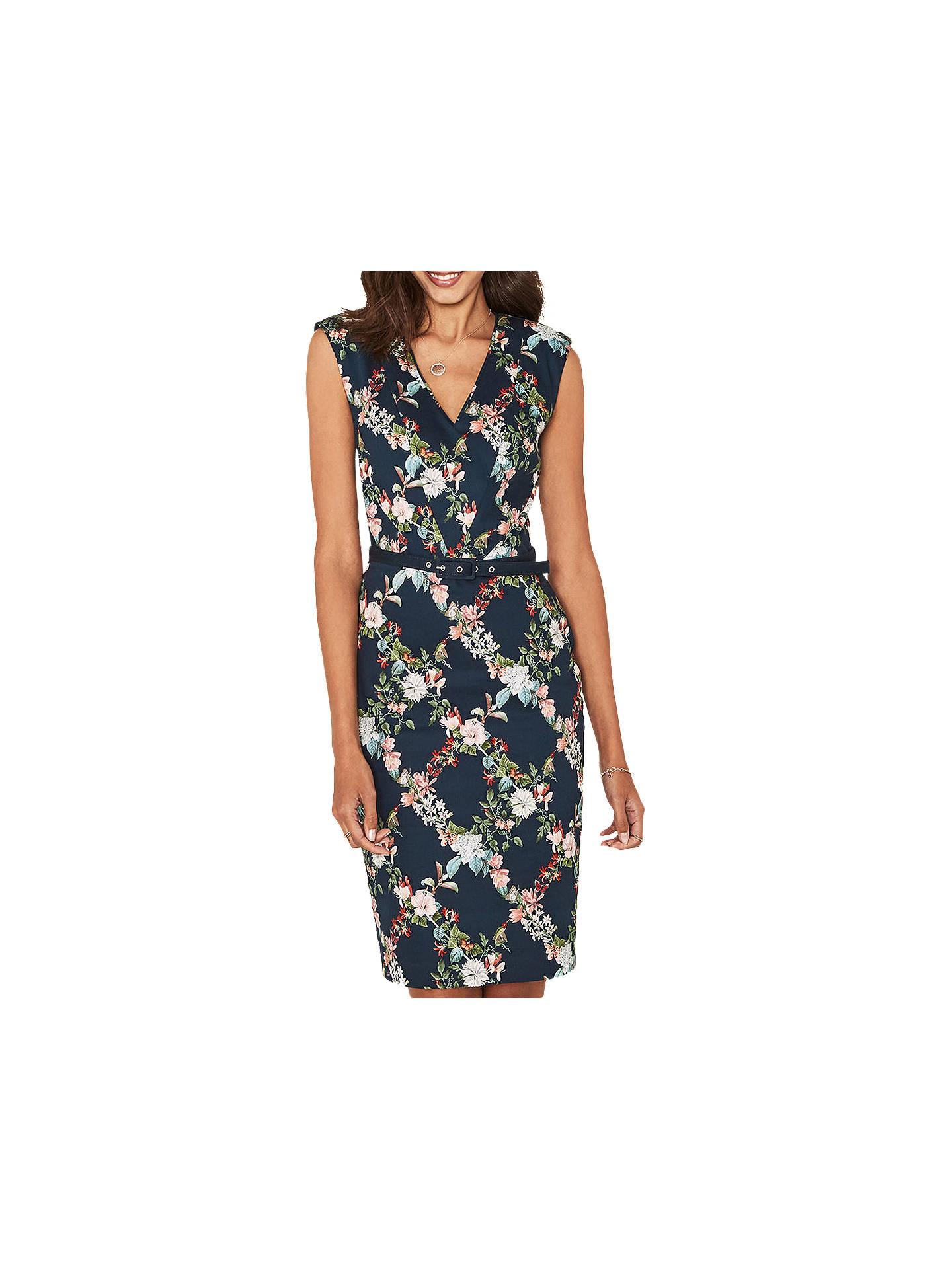b8ac90ca60cf Buy Oasis Fitzwilliam Floral Pencil Dress, Turquoise, 6 Online at  johnlewis.com ...