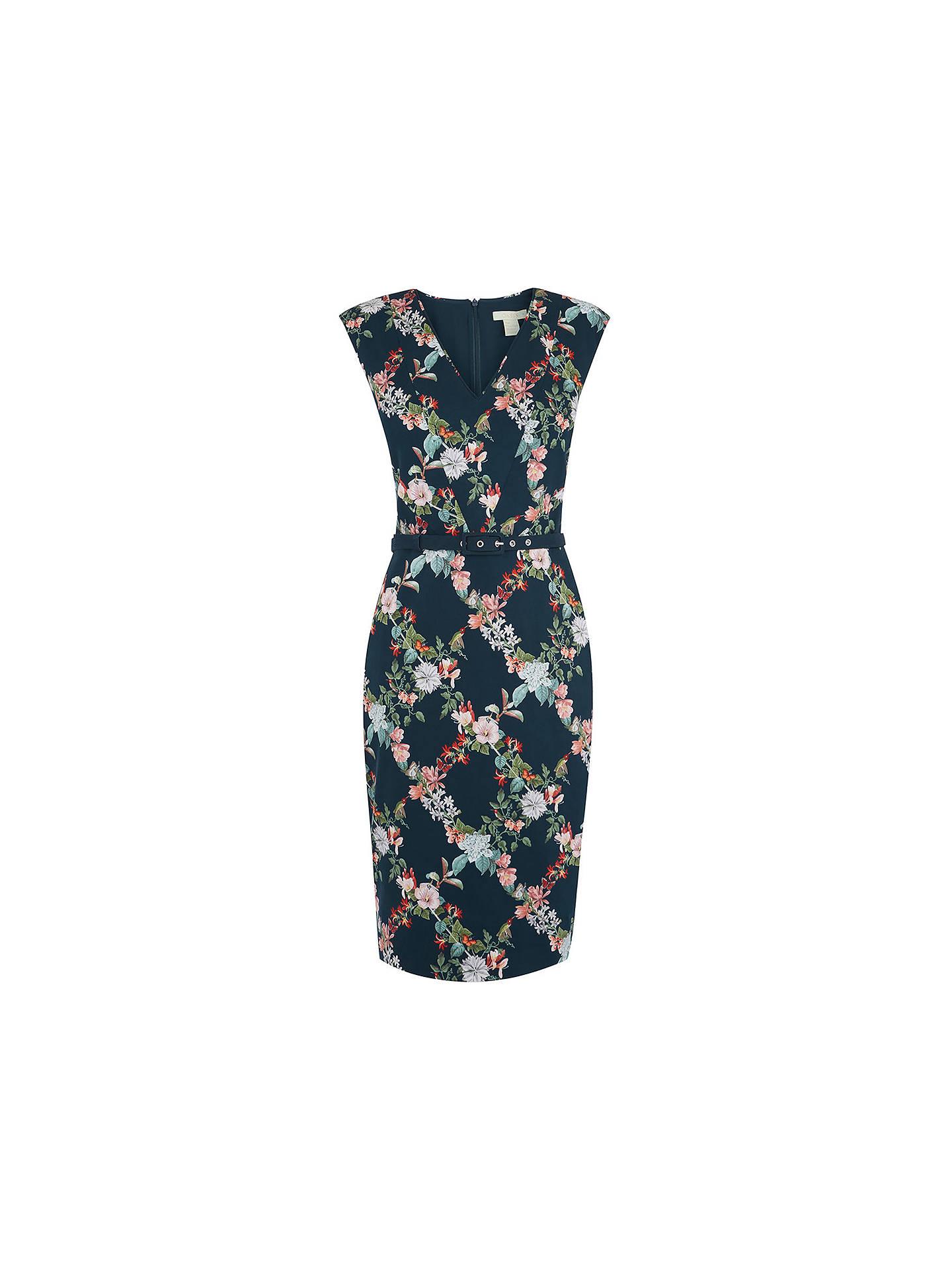 122165748049 ... Buy Oasis Fitzwilliam Floral Pencil Dress, Turquoise, 6 Online at  johnlewis.com ...